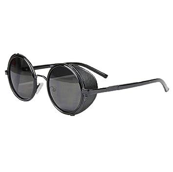 ed43b5de3a Koly® Vintage Retro Cyber Goggles Steampunk Sunglasses Mirror Lens Round  Glasses (G)  Amazon.co.uk  Beauty