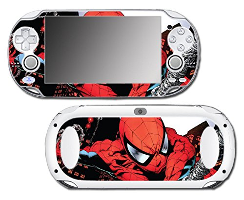Spider-Man Spiderman Comic Movie Video Game Vinyl Decal Skin Sticker Cover for Sony Playstation Vita Regular Fat 1000 Series System