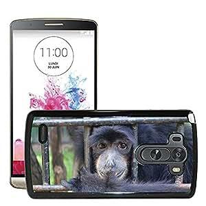 GoGoMobile Slim Protector Hard Shell Cover Case // M00117623 Monkey Ape Emcaged Cage Animal // LG G3 VS985