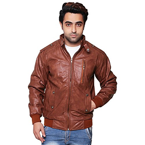 Lamb Bolero (SID Mens Bolero Brown Lambskin Leather Jacket, Biker Jacket)
