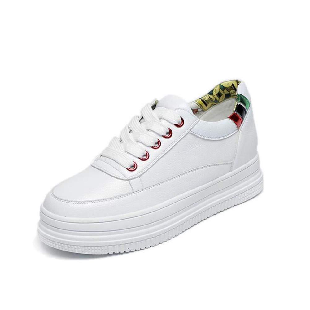 Wanderschuhe Plateau Turnschuhe Junge Mode Freizeitschuhe Dicke weiße Schuhe