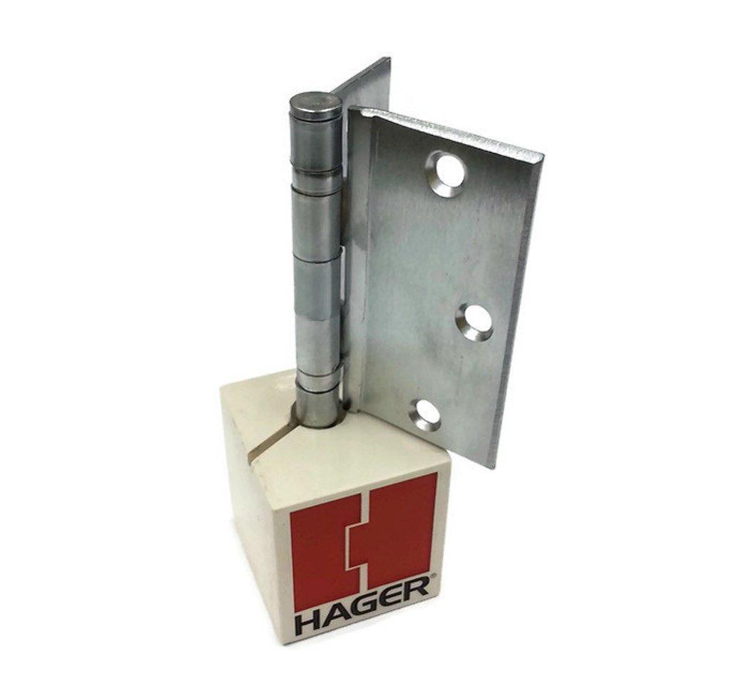 Hager Half Surface Steel Hinge BB1173 4.5 US26D/652 (Satin Chrome) - Box of 3 Ball Bearing Hinges