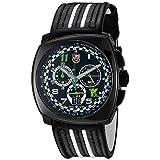 Luminox Men's 1142 Tony Kanaan Limited Edition Analog Swiss Quartz Black Leather Watch