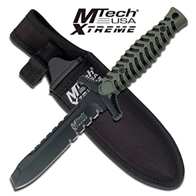 "Mx-8089bgt M Tech Xtreme Oktr099006 Tactical Fixed Blade Boot Knife 7.5 7p9q0udd "" Overall Steel Fixed Knife Fix Blade Hunt Camping Camp"""