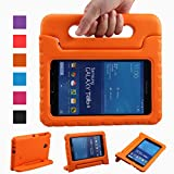NEWSTYLE Shockproof Light Weight Kids Case with Protection Cover Handle and Stand for Samsung Galaxy Tab 4 7-inch, SM-T230, SM-T231, SM-T235 - Orange (Not Fit Other Models)