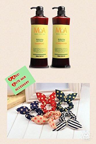 IONER (DUO)Melaleuca Omeca-3 Argan Moisturizing and Repair(1000 ml)**FREE! RANDOM CUTE HAIR ACCESSORY** (Moisturizing Duo)