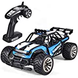 #3: SIMREX A130 RC Cars High Speed 20MPH Scale RTR Remote Control Brushed Monster Truck Off Road Car Big Foot RC 2WD Electric Power Buggy W/2.4G Challenger Blue
