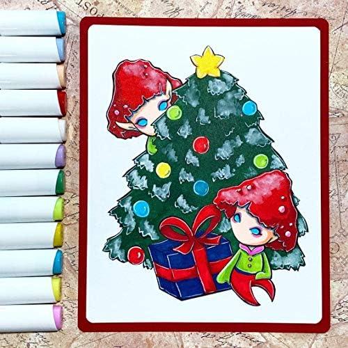 Permanent Marker Stifte, Ohuhu 60 Farben Doppel Spitzen Marker Pen, Sketch Twin Markierungen Textmarker mit Tragetasche zum Zeichnen Skizzieren von Farbmarkierungen Markieren und Unterstreichen
