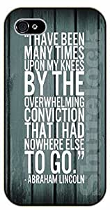 For Ipod Touch 5 Case Cover Bible Verse - I have been many times upon my knees. Abraham Lincoln - black plastic case / Verses, Inspirational and Motivational