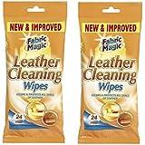 Fabric Magic Lot de 2paquets de 24lingettes nettoyantes pour le cuir