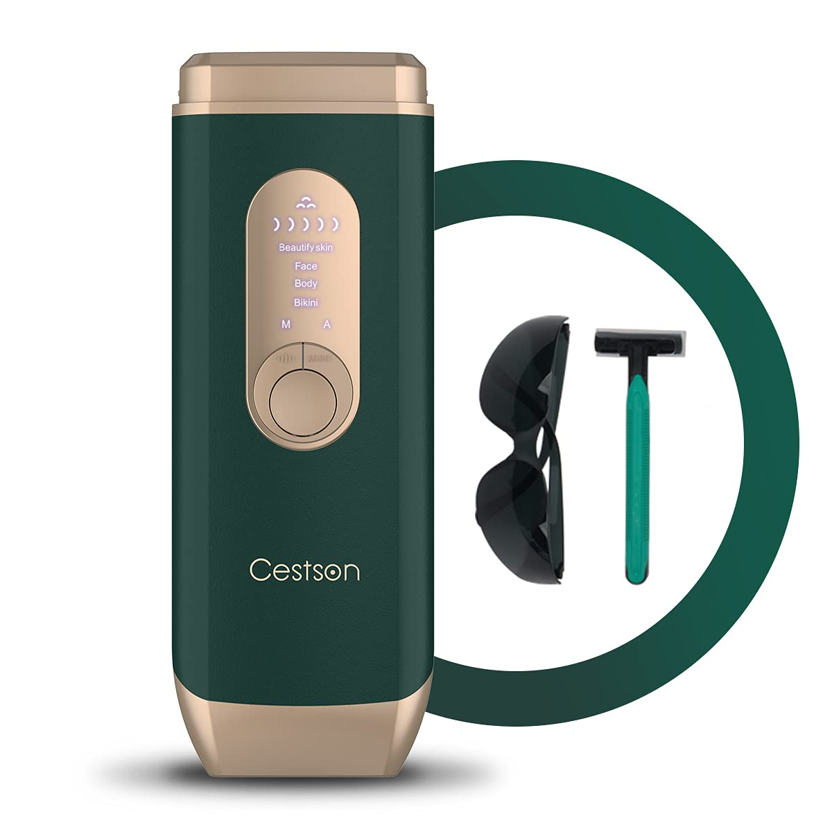 At Home Hair Removal for Women and Men Permanent Painless Hair Remover Device for Facial Legs Arms Armpits and Body