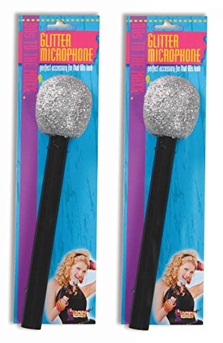 US Toy Glitter Microphone (2 Pieces)