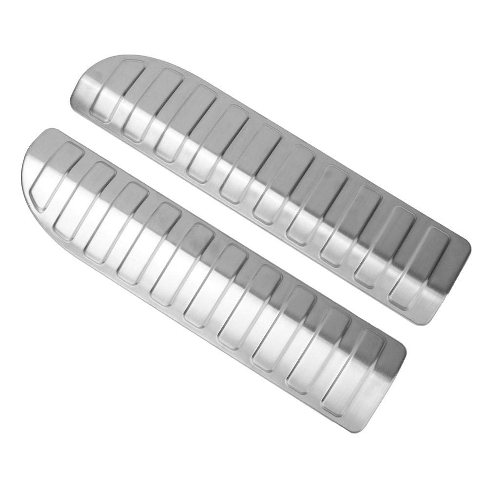 2pcs Interior Bumper Stainless Steel Decoration Trim Cover Fit for Land Rover Range Rover Sport 2014-2018 Rear Bumper Cover