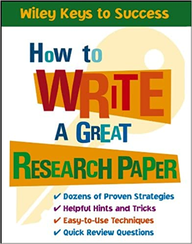how to write a research paper on a book