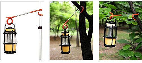 Multi purpose Camping Lantern Hanger Holder, Mini Factory 2 way Hanger Lantern, Bag, Utensil Hanger Hook for Outdoor Camping Fishing