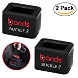 Bands 2 Pack Car Seat Belt Buckle Holder Easy Installation Toddler Booster Seat Helper Keeps Receiver Upright for Kids,Adults, and The Elderly for Arthritis Special Needs Fits Most Vehicles