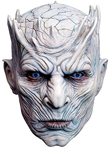 Halloween Costumes Mask (Trick or Treat Studios Men's Game of Thrones-Night's King, White Walker Men's Full Head Mask, Multi, One Size)