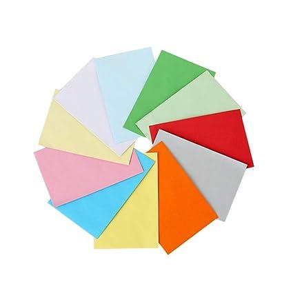 STOBOK 100 piezas Sobres mini sobres colores para tarjetas ...