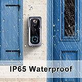 【2021 Upgraded】 WiFi Video Doorbell