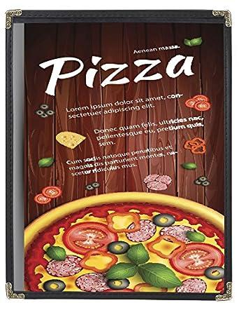c55de7835c50a Amazon.com  MenuCoverMan-25 Menu Covers  3117 BLACK 1-PANEL-2-VIEW ...