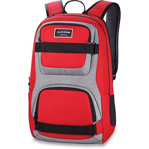 "Dakine - Duel 26L Backpack - Padded Laptop & iPad Sleeve - Insulated Cooler Pocket - Mesh Side Pockets - 19"" x 12"" x 9"" (Red)"