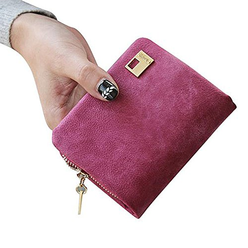 Price comparison product image Matte Leather Wallet, Paymenow Clutch Change Coin Bag Women Purse Mini Ladies Handbag Wallet (Hot Pink)