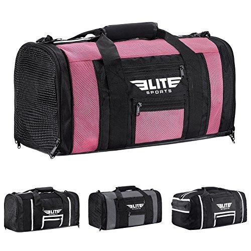 NEW ITEM Elite Sports Ventilated Mesh Duffel Gym Bag (Pink)