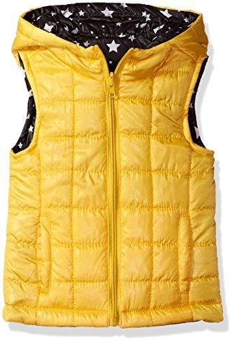 Urban Republic Girls Little Light Weight Puff Reversible Vest, Lemon Zest, 6X