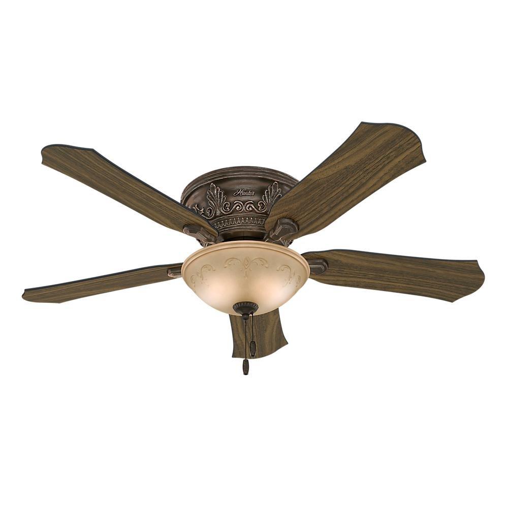 Indoor Flushmount Roman Bronze Ceiling Fan Com