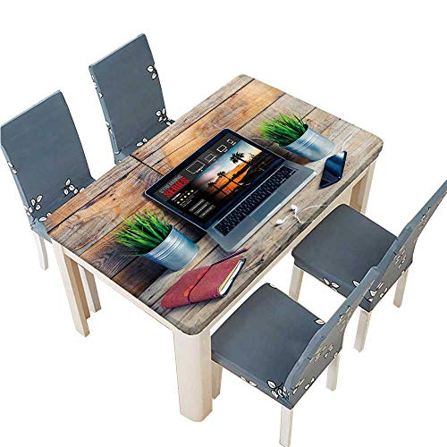 PINAFORE Polyester Tablecloth Table Cover Streaming tv Series on The Internet for Dining Room W65 x L104 INCH (Elastic Edge)