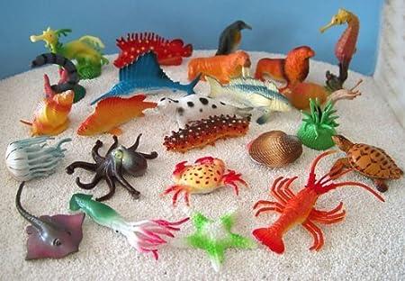 German Trendseller® - 6 x Kit Animales Marinos ┃para Regalo ┃Fiestas Infantiles┃ Idea de Regalo┃cumpleaños de niños┃ 6 Unidades