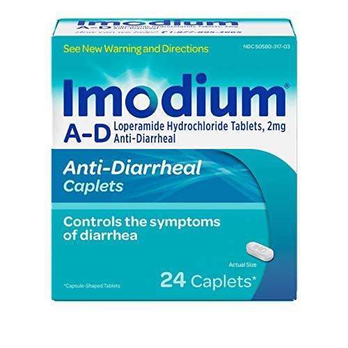 Imodium A-D Diarrhea Relief Caplets, Loperamide Hydrochloride Anti-Diarrheal Medicine, 24 ()