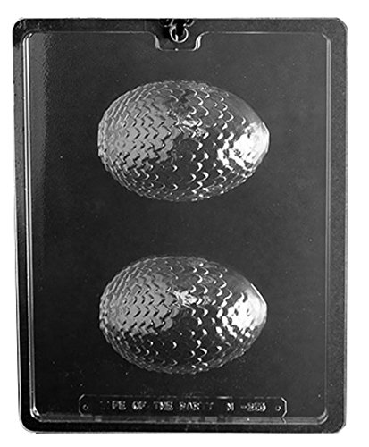 (CybrTrayd Life of the Party M255 Dragon Egg Chocolate Candy Mold, Clear)