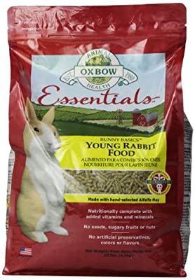Oxbow Animal Health Bunny Basics Young Rabbit Fortified Small Animal Feeds, 10-Pound
