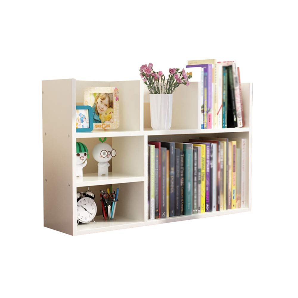 White 502080cm Bookshelf Student desktop simple office dormitory double storage bookcase stable and easy to clean (multiple colors available) (color   Black walnut, Size   50  20  60cm)