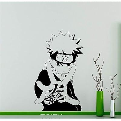 wdddecal Naruto Decal Naruto Japanese Manga Sticker Anime Home Interior Teen Kids Children's Room Decor Mural: Home & Kitchen
