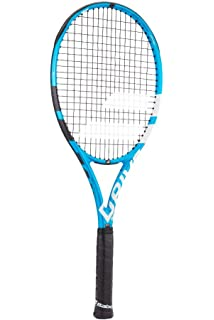 Babolat Pure Drive Team Black/Blue/White Tennis Racquet Strung with Custom Racket String