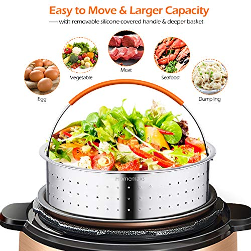 Pressure Cooker Accessories, Homemaxs 16 Pcs Instant Pot Accessories Compatible with 6,8,10Qt- Steamer Basket,Springform Pan,Egg Rack,Parchment Paper,Egg Bites Molds,Silicone Mitts - with Free Recipes by Homemaxs (Image #1)