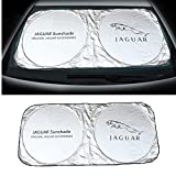 Auto sport 150X70cm Car Window Sun Shade Car Windshield Visor Cover Block Front Window Sunshade UV Protect Car Window Film (jaguar)