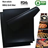 Vermogen BBQ Grill Mat (Set of 3) Oven Liner Non-Stick Baking Mat FDA Approved, PFOA Free, Easy to Clean Barbecue Grilling Mats Kitchen Stove Burner Covers