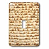 InspirationzStore Judaica - Matzah bread texture photo - for passover pesach - funny Jewish humor - humorous matzo Judaism food - Light Switch Covers - single toggle switch (lsp_112943_1)