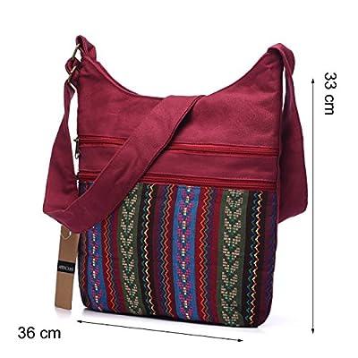Women Shoulder Bag Gypsy Bohemian Hobo Bag Folk Tribal Woven Crossbody Messenger Bag