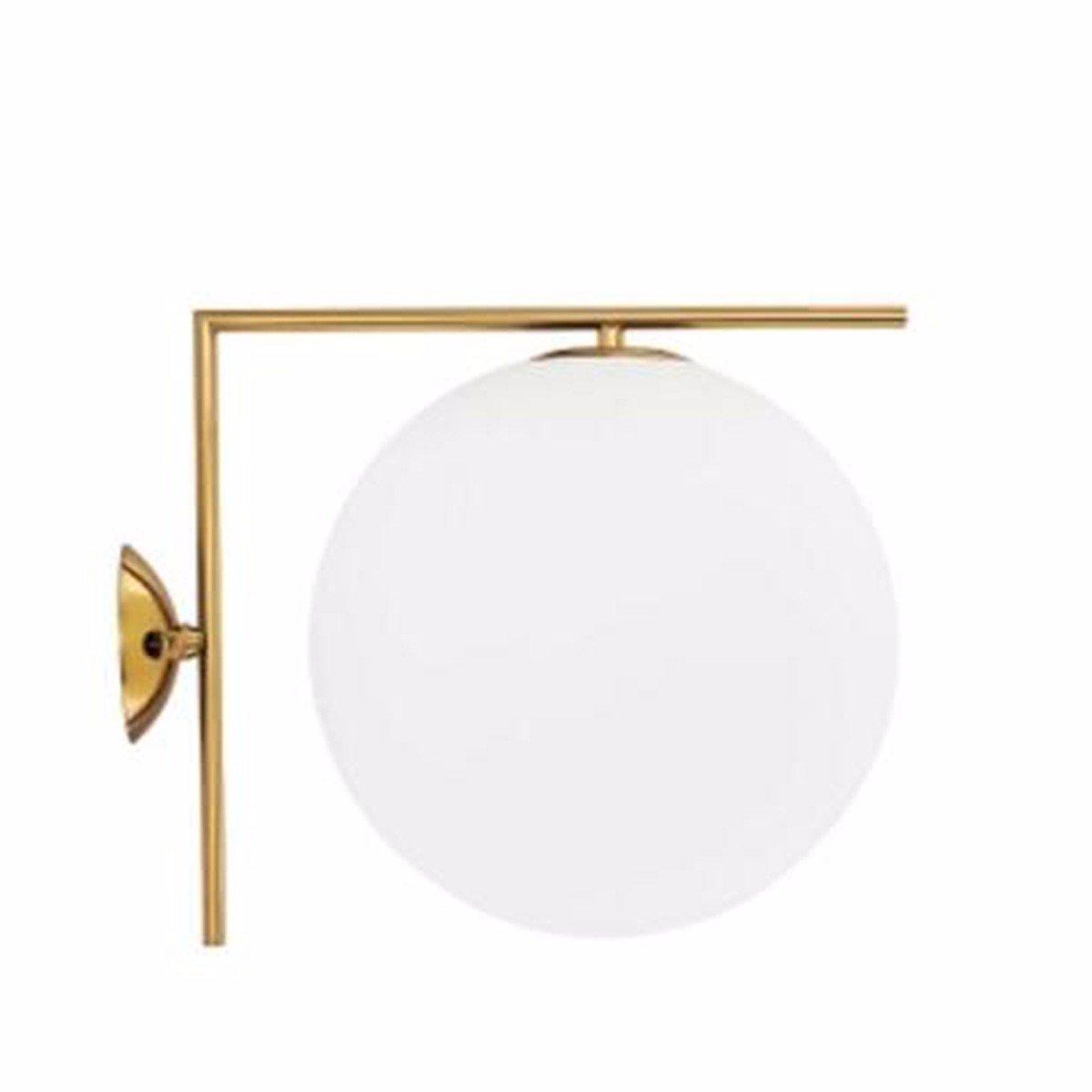 GOUZI Wandleuchte Persönlichkeit kreativ Die Glaskugel LED-TV, Wandleuchte für Wohnzimmer Schlafzimmer Küche Bad Nacht Flur Eingangsbar