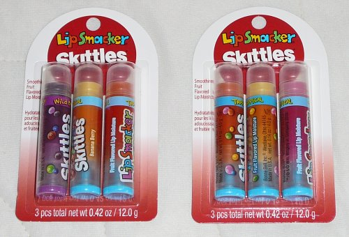 Lip Smacker Skittles Tropical Fruit Flavored Lip Moisture 3pc