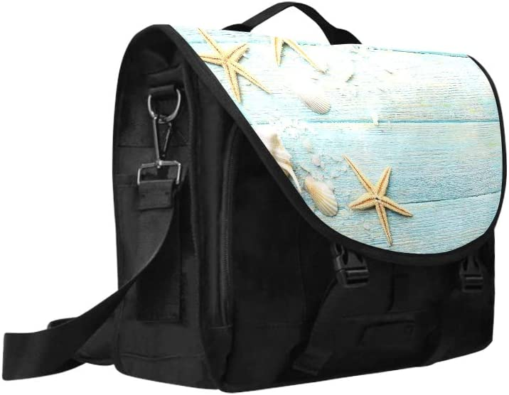Laptop Sleeve Briefcase Sea Stars and Shells On Wooden 269667575 Multi-Functional Men Briefcase Laptop Fit for 15 Inch Computer Notebook MacBook