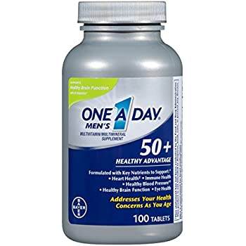 One A Day Men's 50+ Healthy Advantage Multivitamin, 100 Count