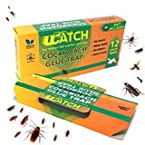 UCatch 12 Pack Cockroach Glue Trap, Bait Included, Effective Solution| Eco- Friendly,...