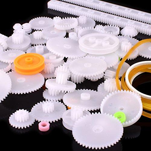75Pcs Single Double Reduction Gear Worm Gear for DIY Car Robot QY12 Quimat Plastic Gear Set