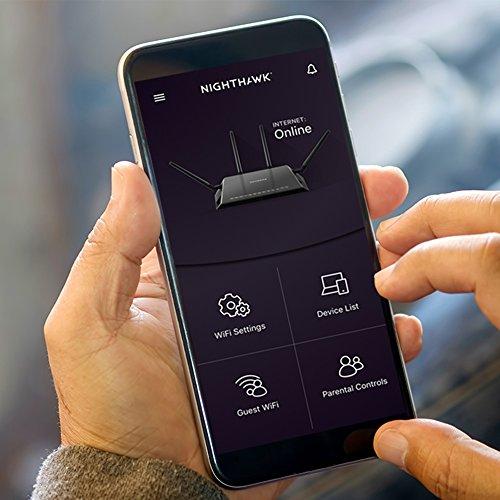 Netgear (R7800-100NAS) Nighthawk X4S AC2600 4x4 Dual Band Smart WiFi Router, Gigabit Ethernet, MU-MIMO, Compatible with Amazon Echo/Alexa