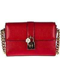 Dolce&Gabbana women's leather shoulder bag original hobo red